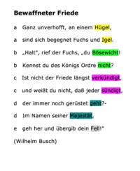 Rhetorische Mittel - Syntaktisch - Deutsch Klasse 8