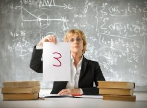 Manchmal vergeben Lehrer auch ungerechte Noten.