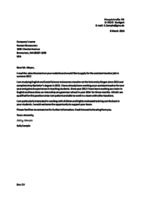 A Letter Of Application from www.studienkreis.de
