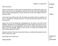Einen Personlichen Brief Schreiben Deutsch Klasse 5